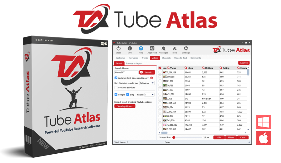 Tube Atlas Cracked 2021 – Youtube research software tool